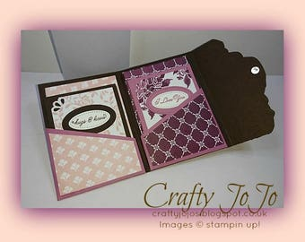 English Tutorial for Mini Card Set in a Vellum Sleeve