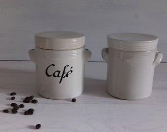 French vintage stoneware pot