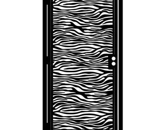 Zebra Print Metal Art Gate - Decorative Steel - Zebra Print - Animal Print Gate - Animal Print Steel Art - Animal Print Art - Outdoor Gate