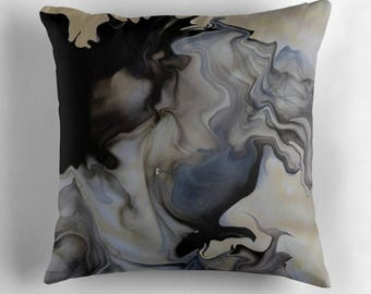 Original Art Print Throw Cushion. Pre Order, Custom Order. Smoke Swirl