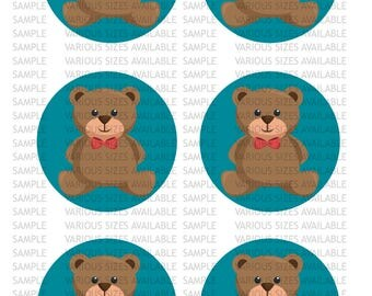 Teddy Bear Icing Sheet Edible Image Cupcake / Cookie Topper
