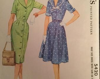 Vintage McCall's Plus Size Pattern #5420