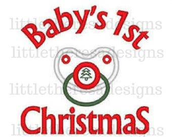 Baby's 1st Christmas Transfer, Digital Transfer,Digital Iron On ,DIY