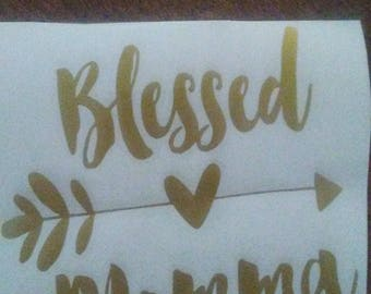 Blessed Momma Decal