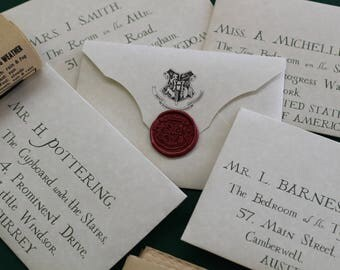 Personalized Acceptance Letter with Realistic Envelope, Authentic Wax Seal, Express Gold Train Ticket, Owl Post Stamps
