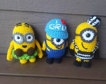 Minions | 3 styles available | Amigurumi | Made to Order  | Designed & Made by Mashumaro