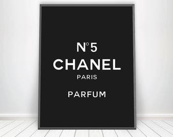 Chanel No 5 * Chanel Number 5 Chanel Perfume Bottle Mademoiselle Chanel Makeup Art Chanel Cosmetic Paris Art Paris Poster Chanel Print Art