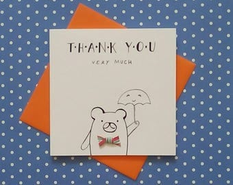 Greeting card / Thank you / card for her / card for him