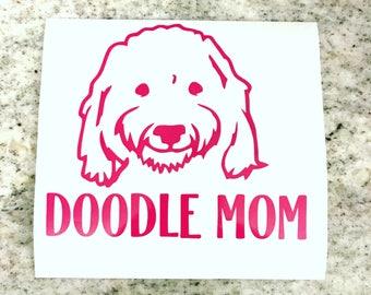 Doodle Mom Decal Sticker, Golden Doodle, Doodle Decal Sticker, Doodle Sticker, Goldendoodle.