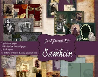 Junk Journal Printable pages:SAMHEIN