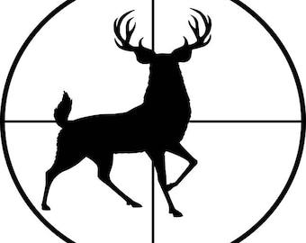 Deer In Sight Vinyl Decal