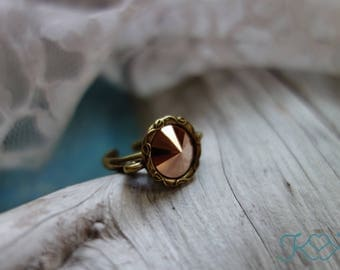Rose Gold Swarovski Crystal Ring