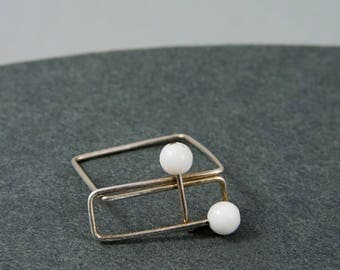Bronze ring, Bronze jewelry, Minimalist ring, Minimalist jewelry, Contemporary jewelry, Vegan jewelry, Silver ring, Contemporary ring
