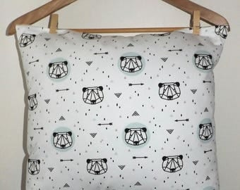 Adorned with adorable little pandas throw pillow cover!