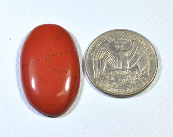 AAA Quality Natural Designer Red Jasper Oval Shape Cabochon Loose Gemstone Size 32x20x6 mm smooth cabochon 30 cts