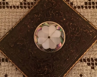 Vintage Brooch - Mother of Pearl Brooch/Pendant from Mexico