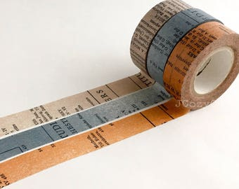 SAMPLE Washi Tape Classiky Old book