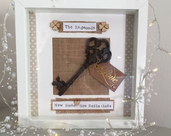 New Home Frame/New Home Gift/Couple Gift/Personalised Frame/Personalised Gift/Birthday Gift