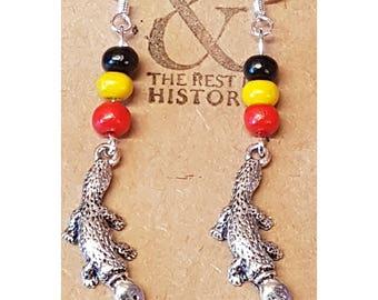 Aboriginal Platypus Earrings