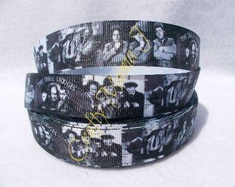 """SALE The Three Stooges Black and White 7/8"""" Grosgrain Ribbon by the yard. Choose 3/5/10 yards. Classic TV with 3 stooges"""