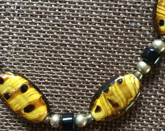 Lampwork beaded necklace
