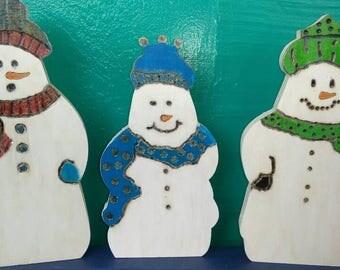 3p.c. snowman set