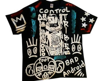 XL One of a kind, hand painted tee shirt.