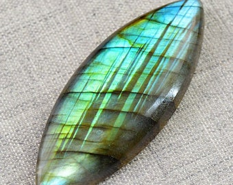 Flat 50% OFF Marquese Shape Green Flash labradorite cabochon gem