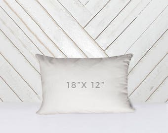 "18"" x 12"" Throw Pillow Insert"