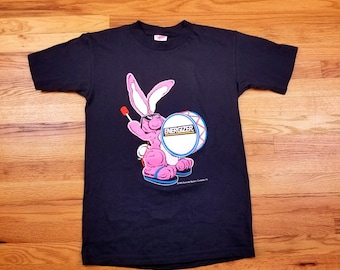 Vintage 90s Energizer Bunny Double Sided T Shirt Size Medium