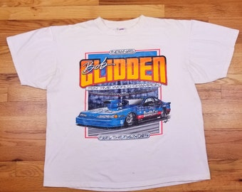 Vintage 90s Bob Glidden Ford Racing Shirt nascar Size XL