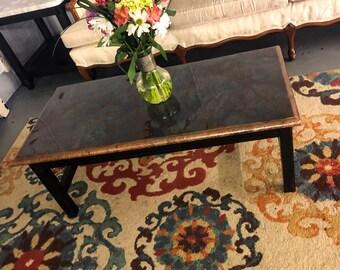 Coral Granite Coffee Table / Faux Granite Coffee Table / Resin Coffee Table / Epoxy Coffee Table / Fluid Art Coffee Table / Unique Table