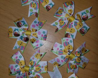 Easter Egg Chick small hair bow