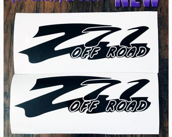 Z71 Off Road Body Tailgate Fender Decals 2PC Set Body Window Sticker Vinyl For Silverado Tahoe GMC Sierra c3