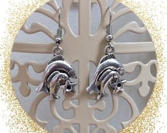 SALE/clearance sale Zodiac fish earrings