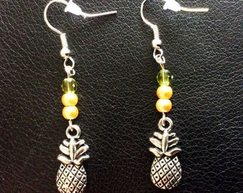 Pineapple 3D earrings