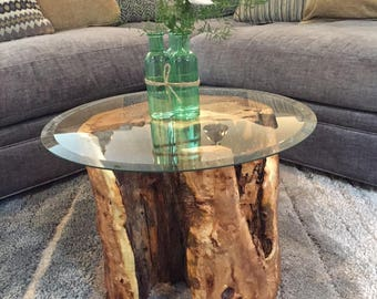 Beech Wood - Hollowed Out Table w/ or w/o Glass Top