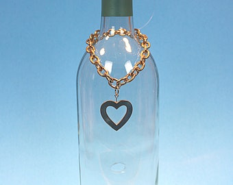 Gold and turquoise heart pendant