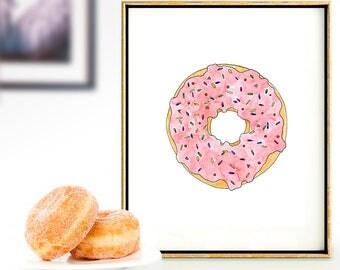 Donut Nursery Wall Art - Instant Download - Printable Art - Gender Neutral - Nursery Decor - Printable Nursery Art - DIY Print - Baby Art