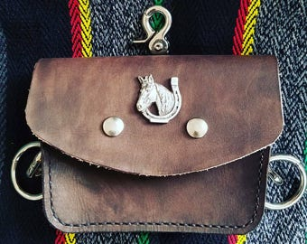 Leather hiking pouch Possibles bag