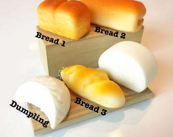 scented squishy bread dumpling stress reliever slow rising key chain phone decoration