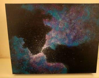 Blue and purple nebula galaxy storage box