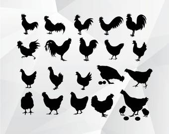Chicken svg,png,jpg,eps/Chicken clipart for Print,Design,Silhouette,Cricut and any more