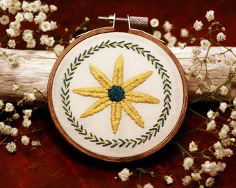 Folk Flower Embroidery Hoop