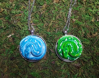 Green Tree Python Medallion- made to order