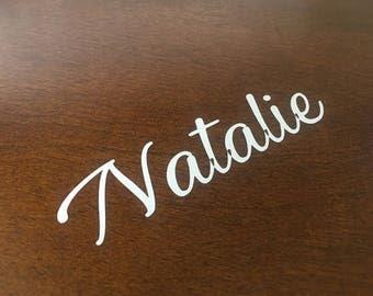 Vinyl Name Decal- Name Sticker