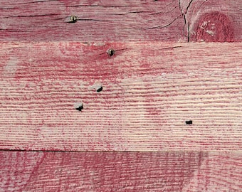"5"" Reclaimed Wood Planks from Reclaimed Snow Fence Wood - Sundance-Red Finish"