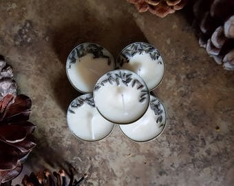 LAVENDER - scented tea lights, pack of 5 tealights, long burn tealights, soy wax tea lights, tealights, Valentine's Gift, Gifts