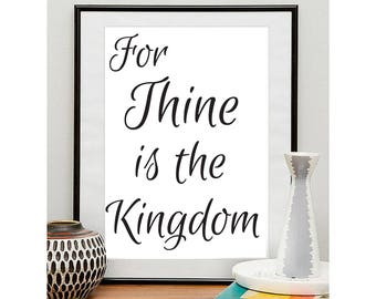 For Thine is the Kingdom Digital Art Print