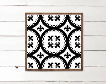 Fleur de Lis Wood Sign - Pattern - Home Decor - Wood Signs - Wooden Signs - Wall Decor - Wall Art - Custom Wood Signs - Wall Decor - Home